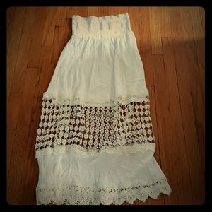 Beautiful embroidered tube dress